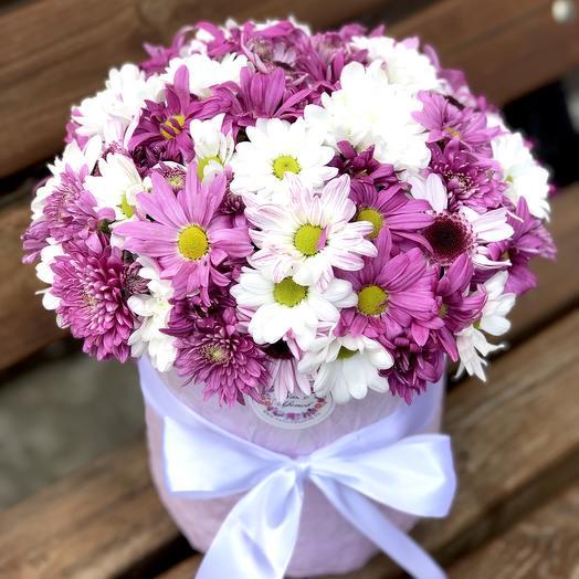 """Цилиндр большой """"Полянка"""": букеты цветов на заказ Flowwow"""