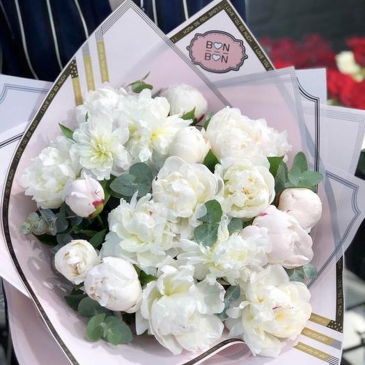 Пионовое безумие: букеты цветов на заказ Flowwow