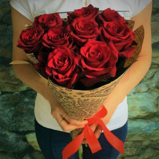 Красные розы 7