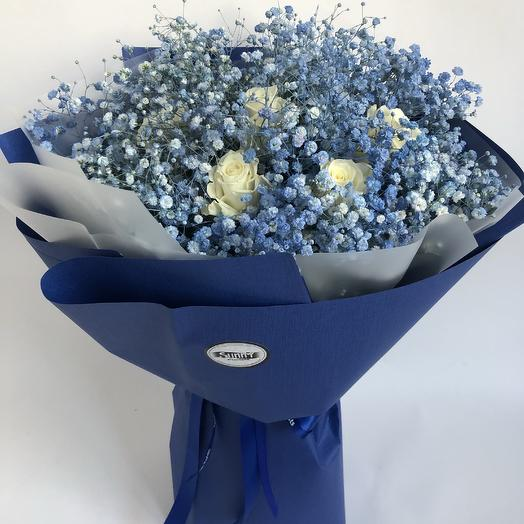 Breath in blue: flowers to order Flowwow