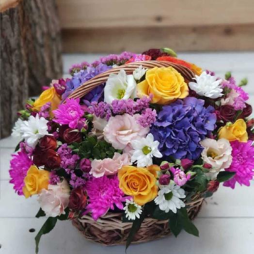 Корзина микс цветов: букеты цветов на заказ Flowwow