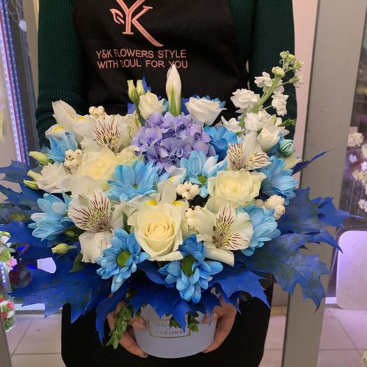 Голубая лагуна: букеты цветов на заказ Flowwow