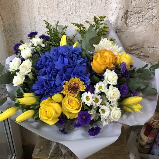 Букет Синее морепродукты: букеты цветов на заказ Flowwow