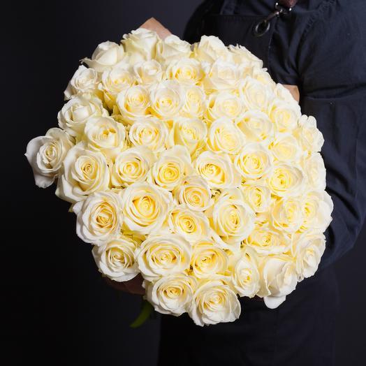 Белые премиум розы: букеты цветов на заказ Flowwow