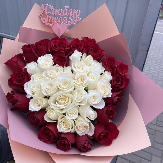 51 Роза -Эквадор: букеты цветов на заказ Flowwow