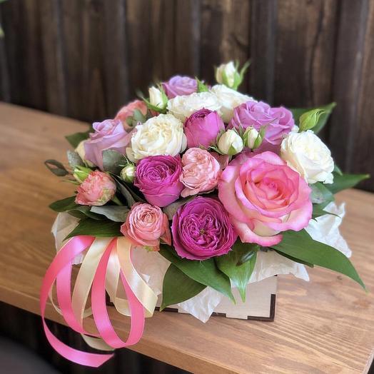 Арт. 21 «Кружево роз»: букеты цветов на заказ Flowwow