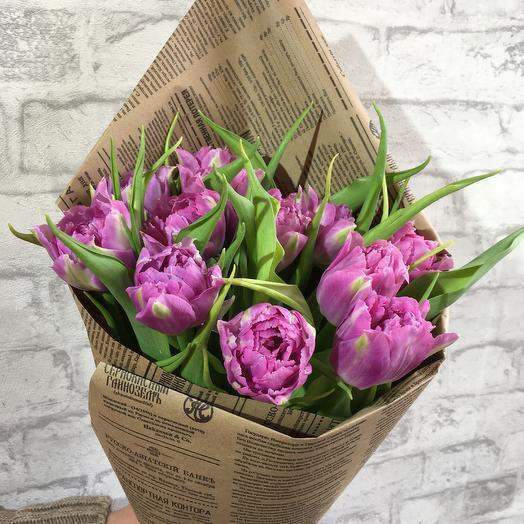Тюльпан фиол в крафте