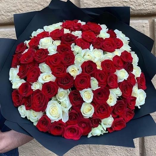 101 микс роза Россия 40 см: букеты цветов на заказ Flowwow
