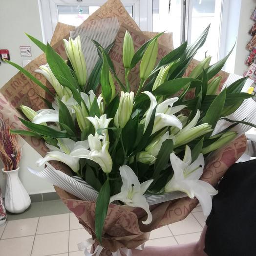 Букет лилий 9 шт: букеты цветов на заказ Flowwow