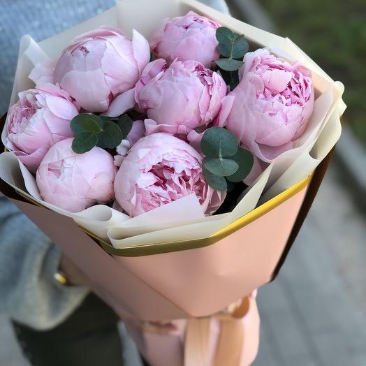 Букет из 7 пион: букеты цветов на заказ Flowwow