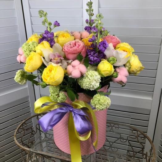 Коробка из цветов