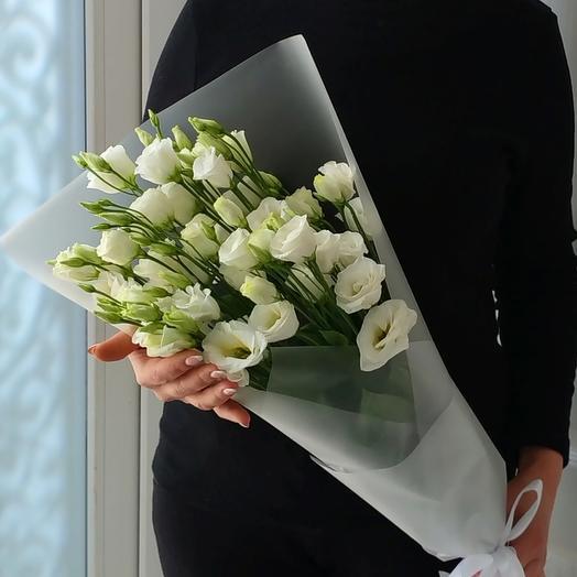 Изабелла 🌼 Букет из белой эустомы: букеты цветов на заказ Flowwow