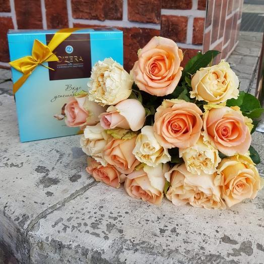 Подарочный Набор из роз и конфет