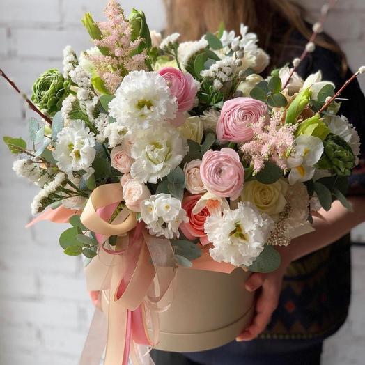 Коробка с цветами,,Храни в сердце моем