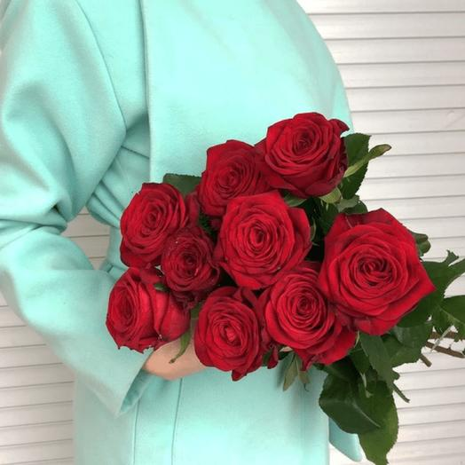 ✅ Красные розы под ленту