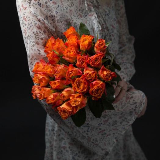 Букет из 27 оранжевых роз