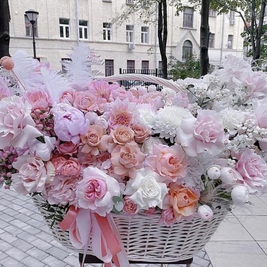 """Корзина с цветами """"эксклюзив"""""""