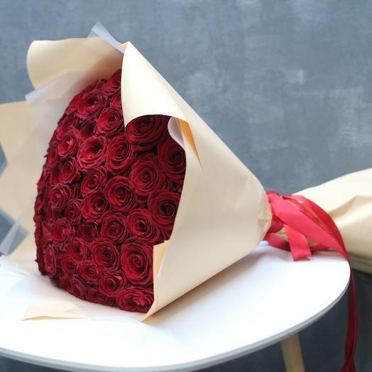 51 красная роза - Премиум