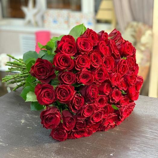 Букет из 51 розы импорт