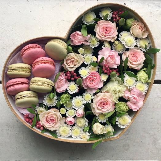 Среднее сердечко со сладостями