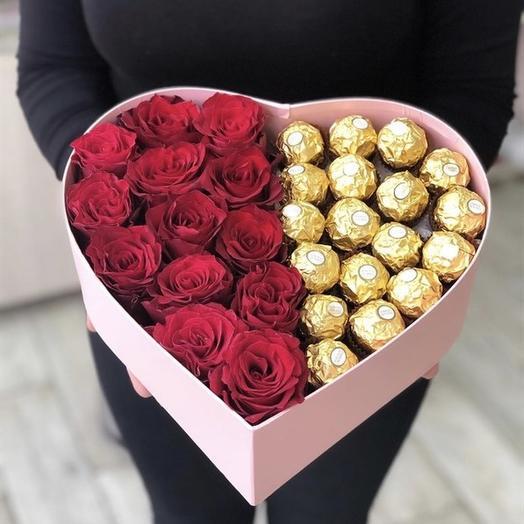 """✅ Сердце Love """"Ferrero"""" и конфеты"""