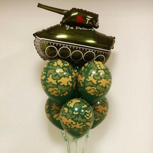 Фонтан шаром танк