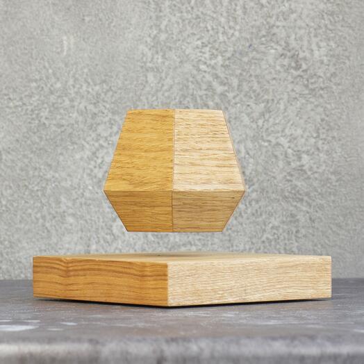 Левитирующий горшок LePlant Wood светлый (для растений)