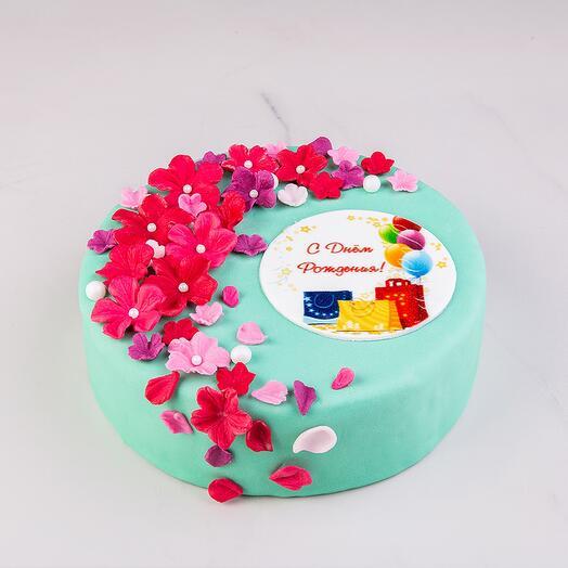Торт «С Днем рождения» с начинкой три шоколада