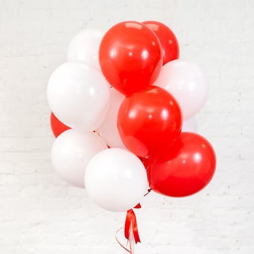 Связка шаров 15 шт, цвет любой