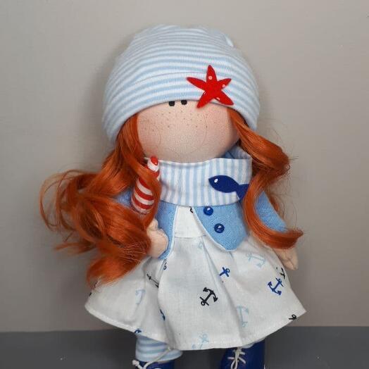 Кукла в морском стиле
