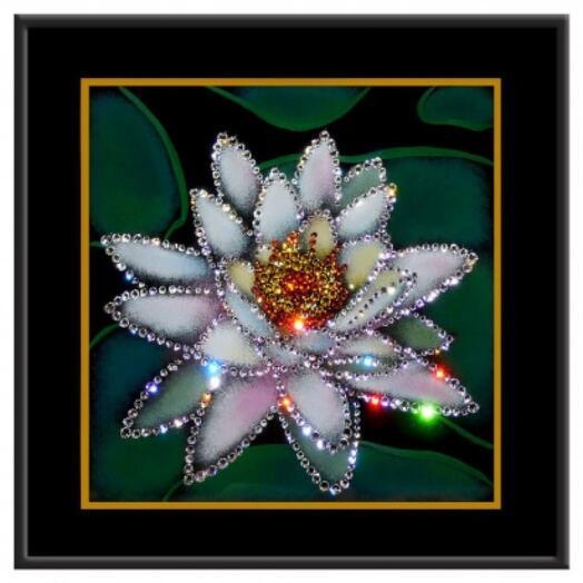 "Картина с кристаллами Swarovski ""Лотос"""