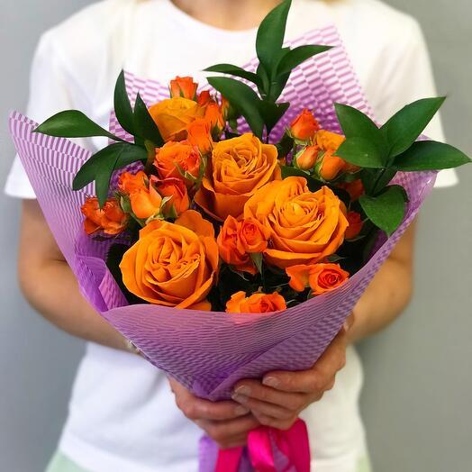 Букет цветов «Розы микс»