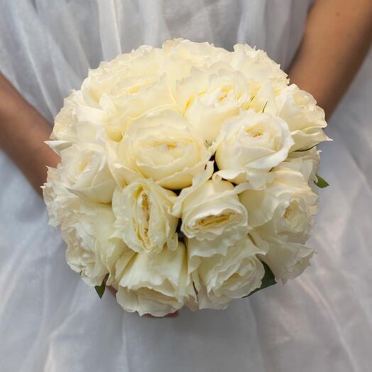 Букет невесты из пионовидных роз Patience