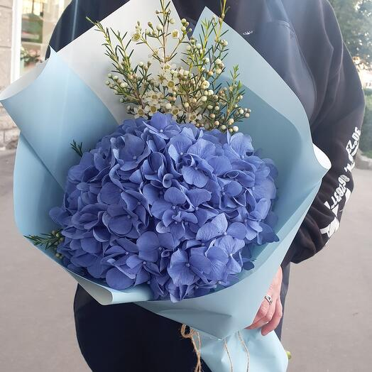 Bouquet with hydrangea and waxflower 💙