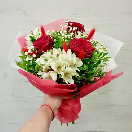 Classic with red roses
