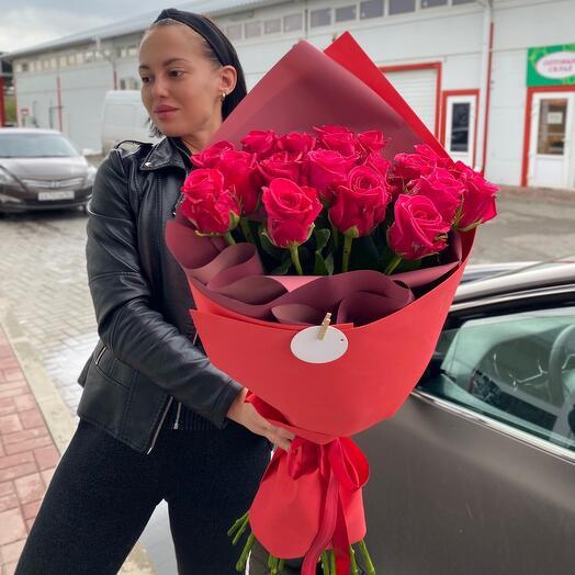 Роскошный букет Роз в авторской упаковке