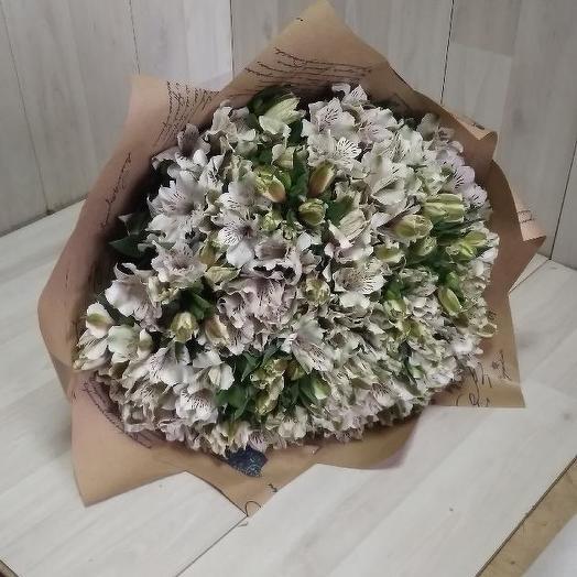 Букет из 50 белых альстромерий: букеты цветов на заказ Flowwow