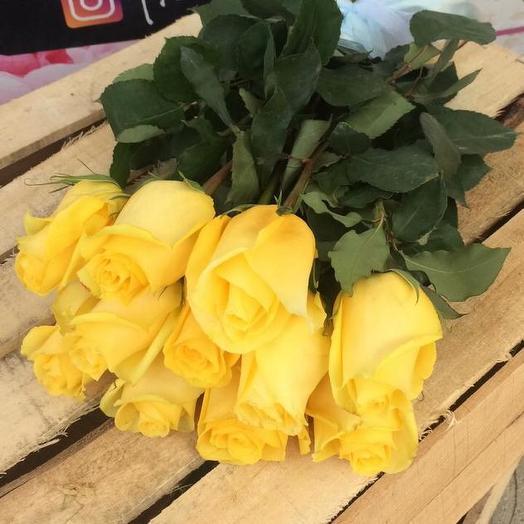 Букет из 11 желтых роз 50 см: букеты цветов на заказ Flowwow
