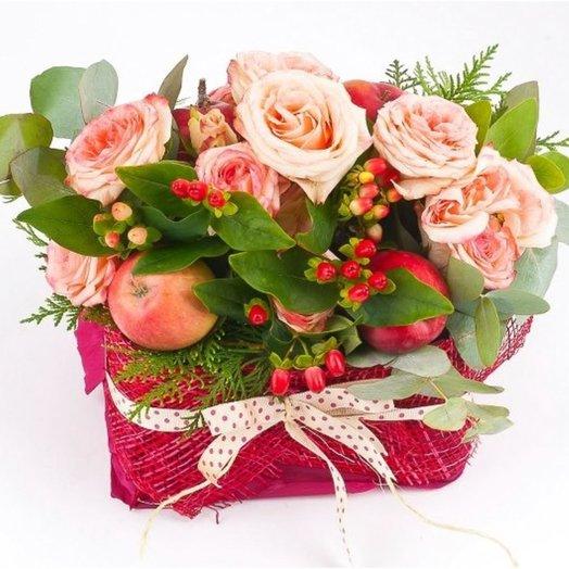 Букет Осенняя корзиночка: букеты цветов на заказ Flowwow