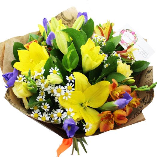 Букет Влюбленный в солнце: букеты цветов на заказ Flowwow