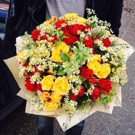 Букет осенняя мелодия: букеты цветов на заказ Flowwow