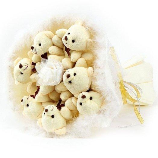 Букет из 7 мягких игрушек: букеты цветов на заказ Flowwow