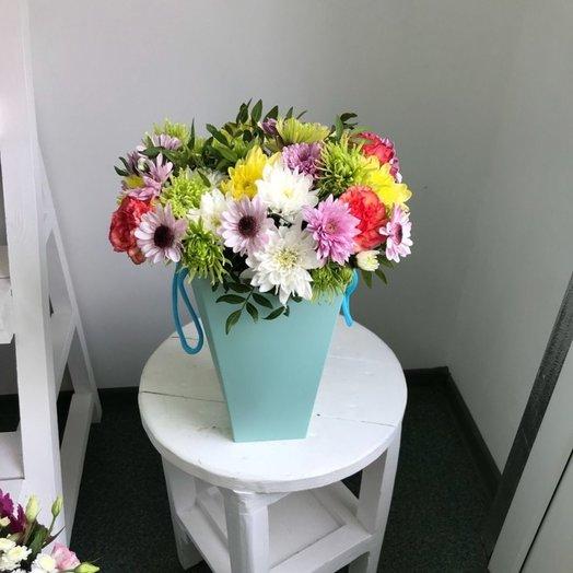 Сумка с цветами: букеты цветов на заказ Flowwow