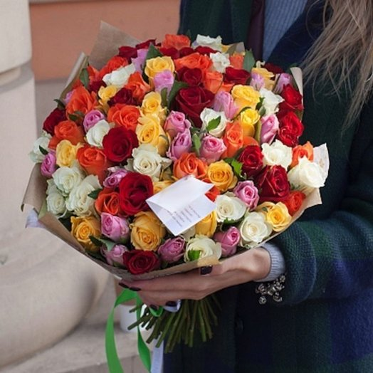 Букет 101 роза: букеты цветов на заказ Flowwow