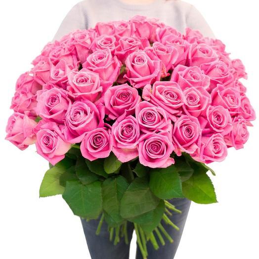 Букет из 51 розовой розы : букеты цветов на заказ Flowwow