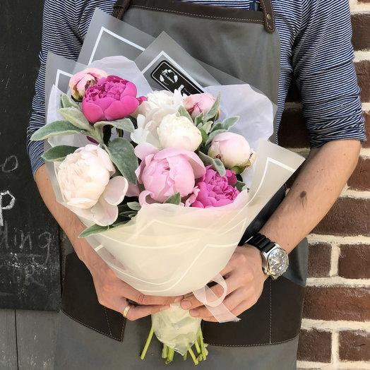 """Букет пионов """"Весенний день"""": букеты цветов на заказ Flowwow"""