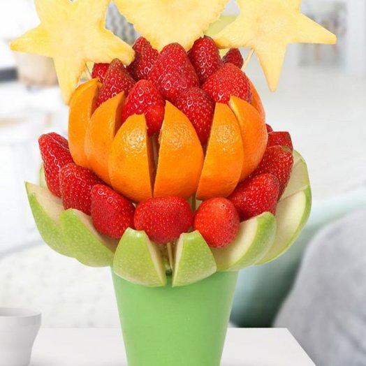 Фруктовый букет ЯРМАРКА: букеты цветов на заказ Flowwow