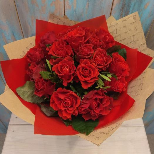 Букет из красной розы 19: букеты цветов на заказ Flowwow