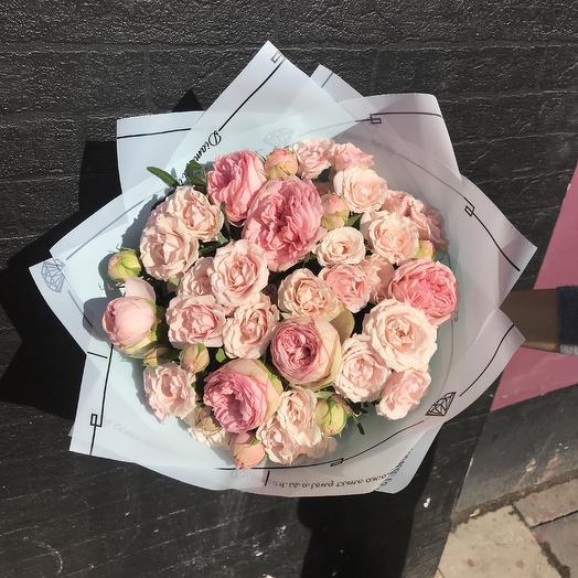 Букет «Розовый сад»: букеты цветов на заказ Flowwow