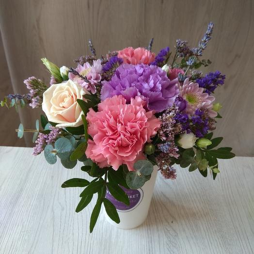 """Цветочный коктейль """"лавандовый сон"""": букеты цветов на заказ Flowwow"""